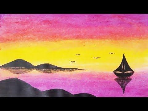 Pastel Boya Ile Kolay Manzara Resmi Nasil Cizilir Easy Pastel Paint Drawing Youtube Pastel Painting Painting Art