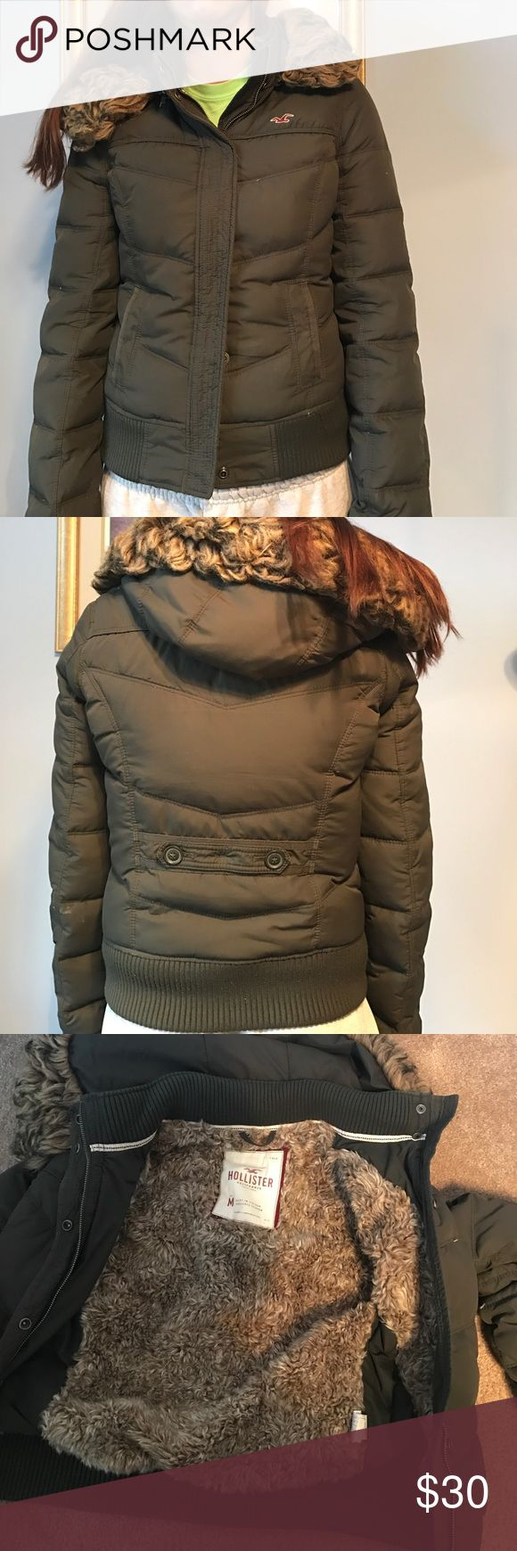Hollister coat Gently worn but still a lot of life left. Hollister Jackets & Coats