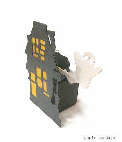 3 DIY Halloween Favor Box Kits, Rickety Haunted House & Ghost Party Favor Box, 7pc. DIY Halloween Kit, Halloween Party Decoration. $7.95, via Etsy.