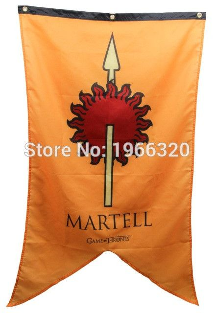 Game of Thrones fans, Isn't this cool?   Game of Thrones H...  Get it now at  http://www.kingslandingmarket.com/products/game-of-thrones-house-martell-banner-flag