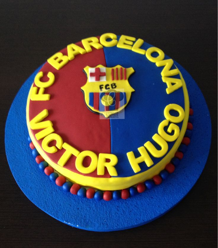 Cake futbol Barcelona España