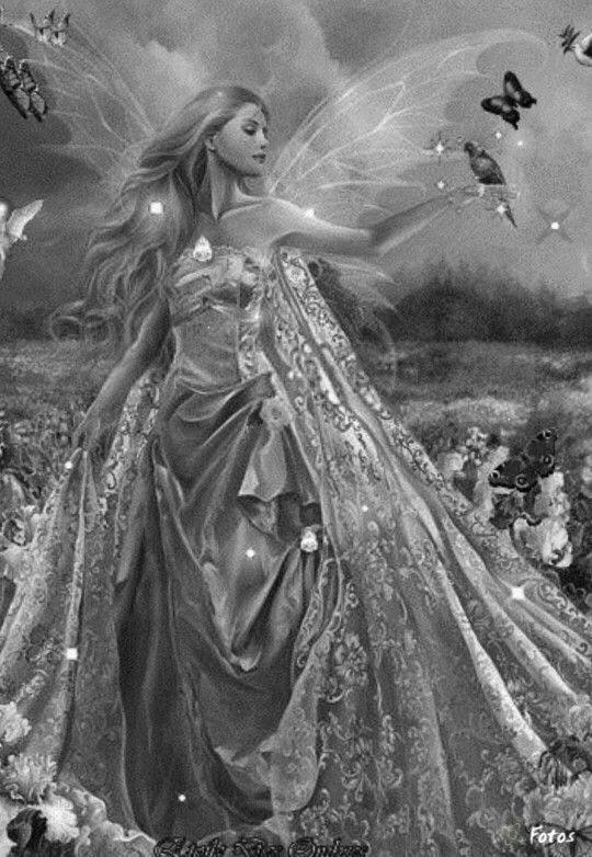 144 best Fairy Grayscale Coloring images on Pinterest ...