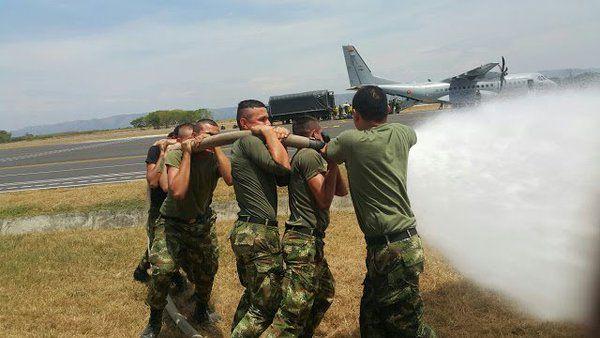 El SSEI capacitando las Brigadas de Emergencias contra Incendios de las Unidades Tácticas de Tolemaida  Servicio de Salvamento y Extinción de Incendios de Aviación Ejercito - América Militar