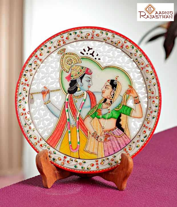 #Snapdealbestproducts Aapno Rajasthan Carved Marble Plate With Radha Krishna, http://www.snapdeal.com/product/aapno-rajasthan-carved-marble-plate/229724?pos=3;688http://www.snapdeal.com/product/aapno-rajasthan-carved-marble-plate/229724?pos=3;688