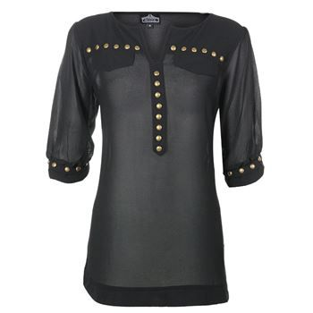 Angie Women's Studded ¾ Sleeve Blouse