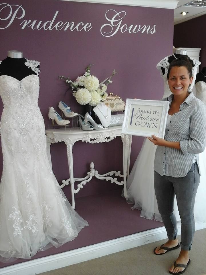 Our new #bride Stef found her #weddingdress in our #Plymouth store today. YAY! #DressingYourDreams #PrudenceGowns