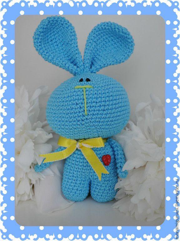 Купить Зайка - разноцветный, зайка, зайчик игрушка, игрушка крючком, подарок на любой случай