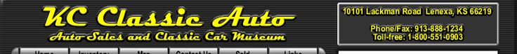 Muscle Cars, Collector, Antique, and Vintage Cars, Street Rods, Hot Rods, Rat Rods, and Trucks for sale by KC Classic Auto in Heartland, Midwest, Kansas City, Classic and Muscle Car Dealer, Museum and Storage, Inventory Available
