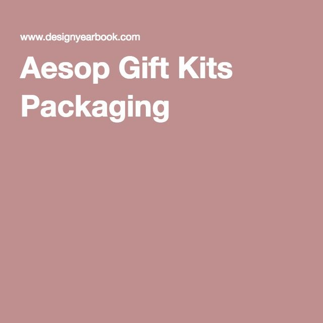 Aesop Gift Kits Packaging