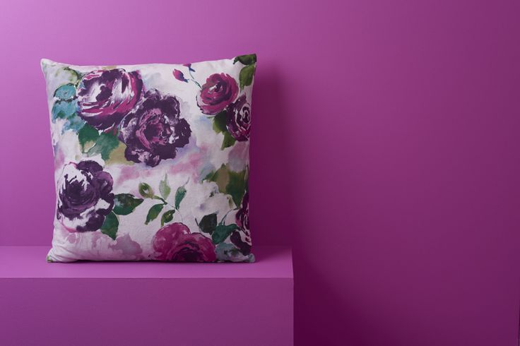 This season, floral prints are big, bold and splashy. This eye-catching rose-print cushion will bring any room to life. Priced at £15.