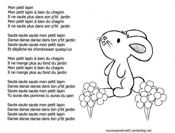 comptine : mon petit lapin à bien du chagrin