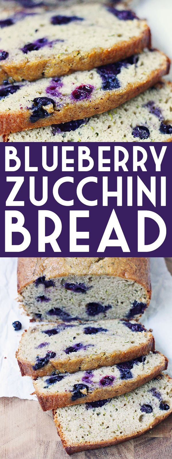 Blueberry Zucchini Bread -- Baking a batch of blueberry zucchini bread is one of the best ways to use all that fresh garden zucchini and sweet, summer-ripened blueberries. | isthisreallymylife.com