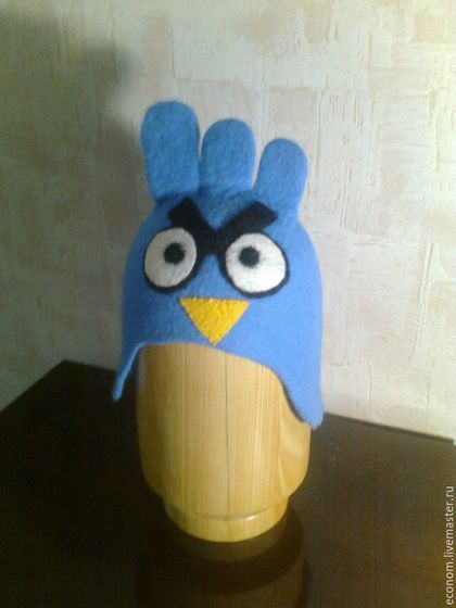 """Банные принадлежности ручной работы. Ярмарка Мастеров - ручная работа. Купить Шапочка для бани и сауны """"Сумасшедшие птички Crazy Angry Birds"""". Handmade."""