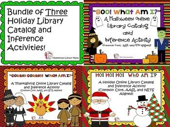 Important:  This product is also part of a huge discounted elementary library product bundle you can purchase here:Huge Elementary Library Product Bundle!BUNDLE AND SAVE $!This bundle contains three online library catalog/inference activities suited for Halloween, Thanksgiving and Christmas.