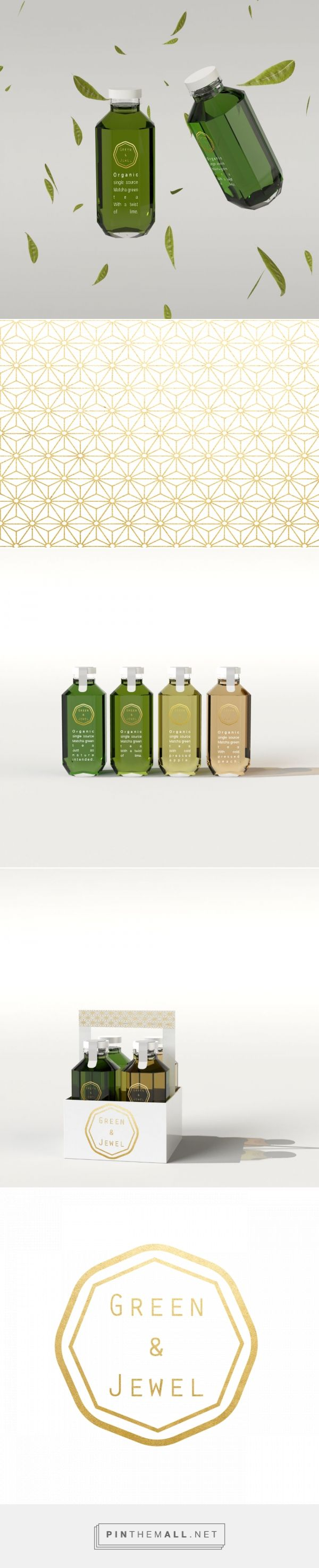 Green & Jewel Organic Tea Packaging by Kris Lenne | Fivestar Branding Agency – Design and Branding Agency & Curated Inspiration Gallery