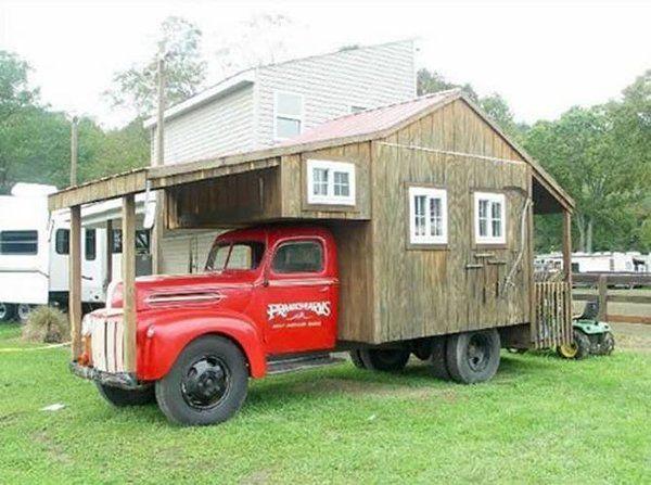 Creatief beheer - Huisje op wielen