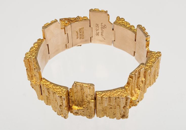 """Björn Weckström for Lapponia Jewelry ~""""Morgam"""" 14K Gold #Bracelet, 1972. #Bjorn #Weckstrom"""