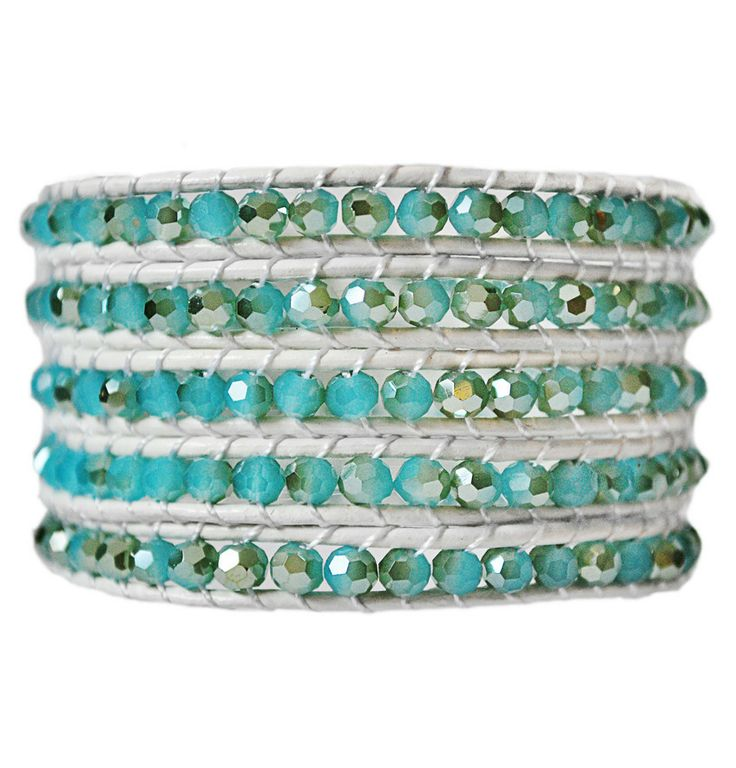 See Breeze Aqua 5 Wrap Leather Bracelet The most popular style at EmmaJaxon.com and only $34. Every girl deserve it. #popular #trends #Gift #aqua #jewelry #bracelet