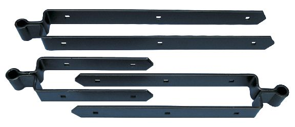 Heavy Duty Double Strap Hinges - Black Polyester Powder Coat Finish