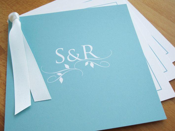 Monogram Swing Wedding Invitation