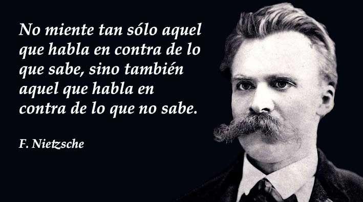 Las mejores frases de Friedrich Nietzsche. filósofo, músico y poeta alemán, de nacionalidad suiza, considerado uno de los pensadores de mayor influencia