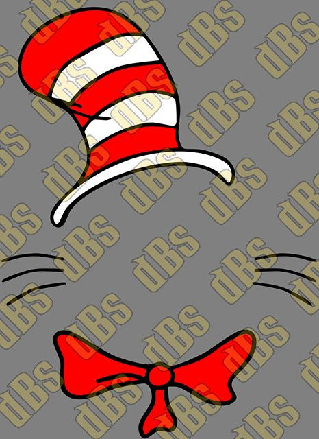 Dr Seuss Monogram Template SVG File