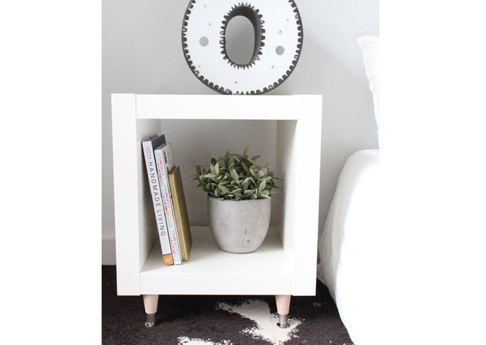 Every IKEA piece could stand to have its legs replaced with something a little more chic and fashionable. This side table is no exception