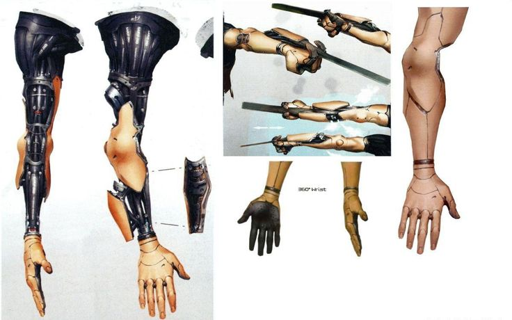 Deus Ex Human Revolution Concept Art: Cybernetic Limbs