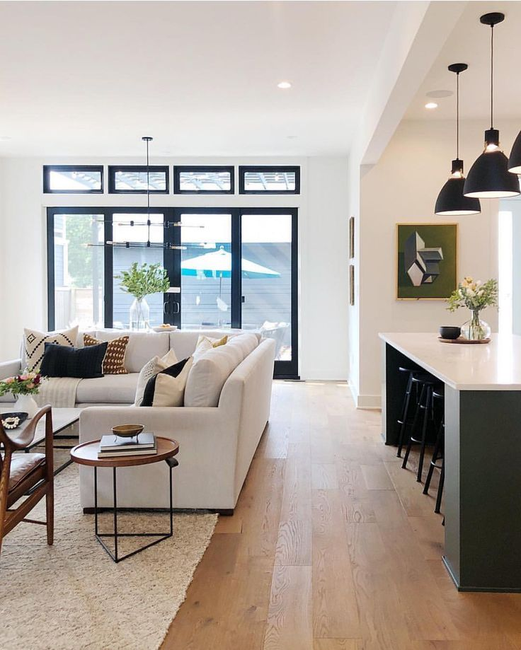 This gorgeous open concept living room and kitchen…