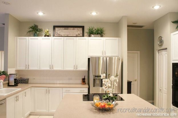 decorating, painting a white kitchen