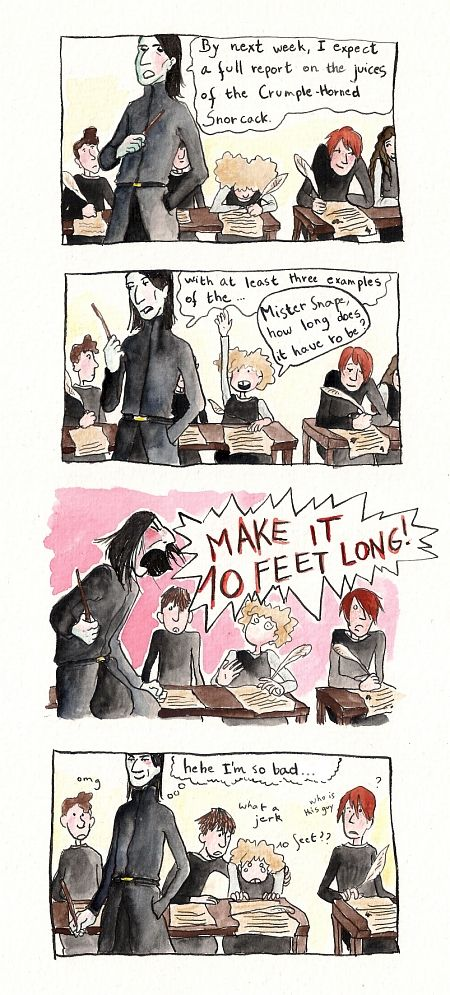 ... as a teacher for the Snapetember 1981 challenge over at #Spinners--End Snape is a character from the Harry Potter-books by J.K. Rowling (edit: this is also part of my fanart100 on Luna and Snap...