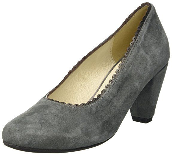 Damen Trachtenschuhe Almhaferl Pumps (Velours) schwarz,  Größe 37 Farbe Schwarz cf47c9e712