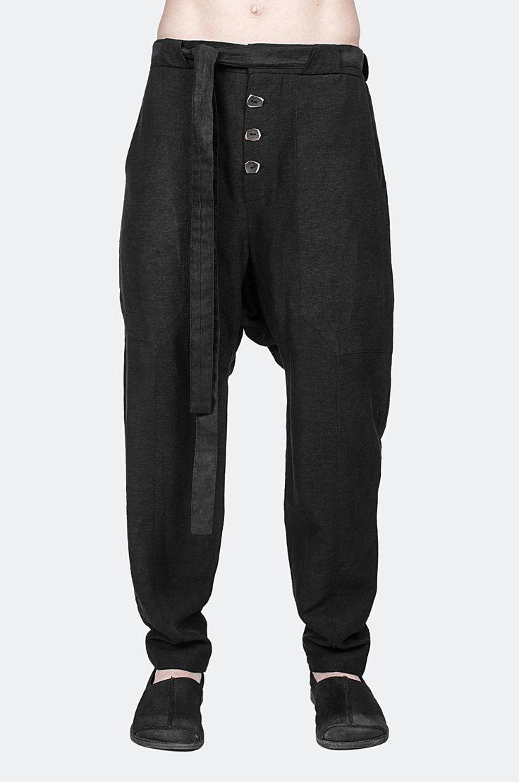 Low crotch silk pants