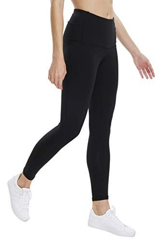 8eddaa692c THE GYM PEOPLE High Waist Yoga Pants for Women Tummy Control Running Workout  Yoga Capri Leggings with Back Hidden Pocket (Medium 02/Black)