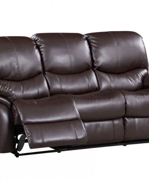 Brown Leather Sofa With Recliners Sofas Futons