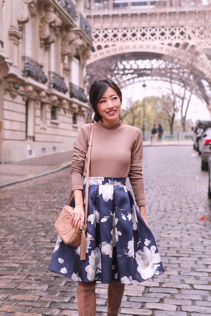 gucci soho disco bag floral skirt petite asian fashion blog