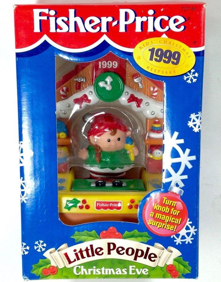 Fisher Price Little People Christmas Eve Ornament 1999 NIB Girl Elf Toy Workshop #FisherPrice #LittlePeople #Christmas