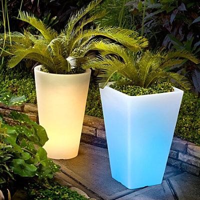 Outdoor Illuminated Planters Gardening Pinterest
