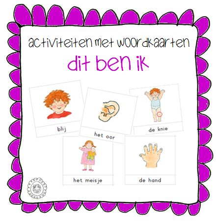 Kleuterjuf in een kleuterklas: Activiteiten met woordkaarten | Thema DIT BEN IK