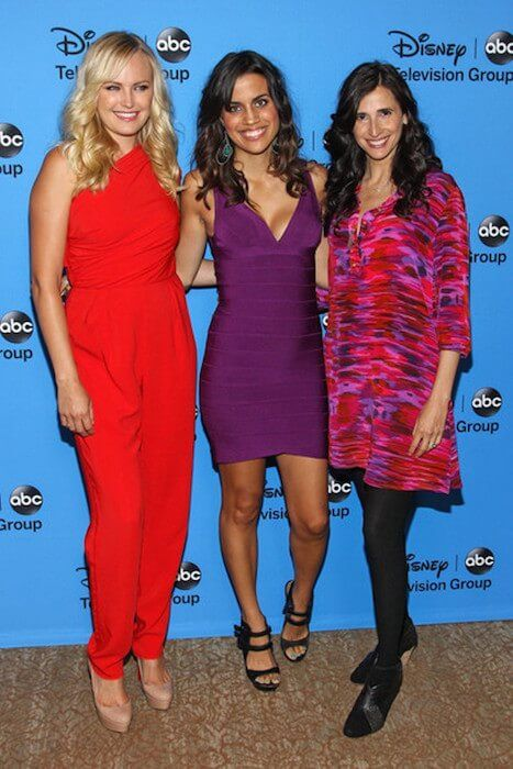 Actress Natalie Morales at the Beverly Hilton Hotel on August 4, 2013 in Beverly Hills, California with Malin Akerman and Michaela Watkins...