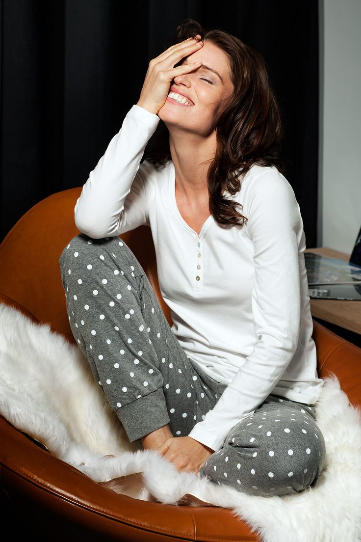 A young & fresh ivory top with trendy polka dot pants - Part of the Mix & Match family this season which is cute and will keep you warm and cosy!