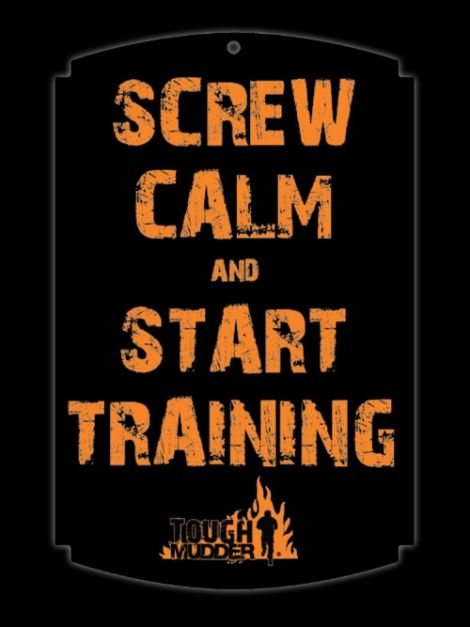 Screw Calm Wood Sign | Tough Mudder Gear