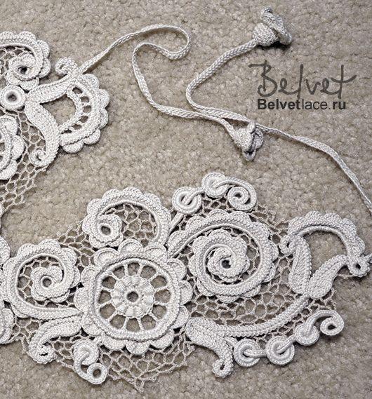 Дизайн и вязание крючком кружева Виктория Belvet