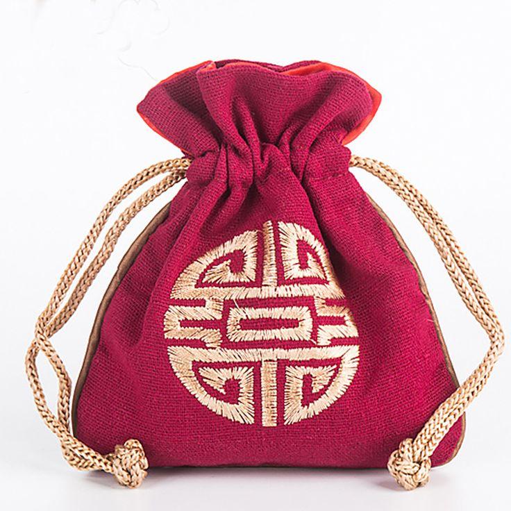 1412 cm drawstring small cotton burlap bag jewelry pouch