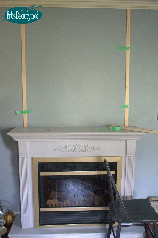Cheap and EASY Faux SHIP LAP Fireplace Makeover DIY for Under $30