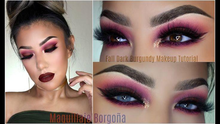 🍁 Maquillaje BORGOÑA de OTOÑO/ Fall burgundy makeup   auroramakeup