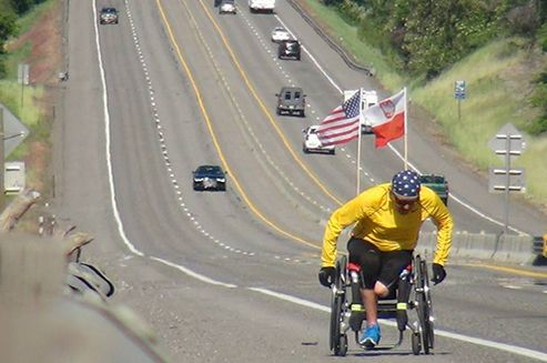 A disabled athlete, Janusz Radgowski will undertake his Pacific-Atlantic 'super- marathon' in an active wheelchair raising support for a two year old child, suffering from a brain illness.  Zuzia was born with a complex genetic brain condition that severely affects her vision and physical development. #America #USA #Poland #charity