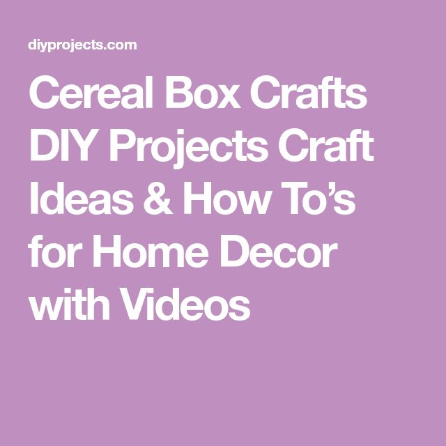 Cereal Box Crafts DIY Projects Craft Ideas & How To's for Home Decor with Videos