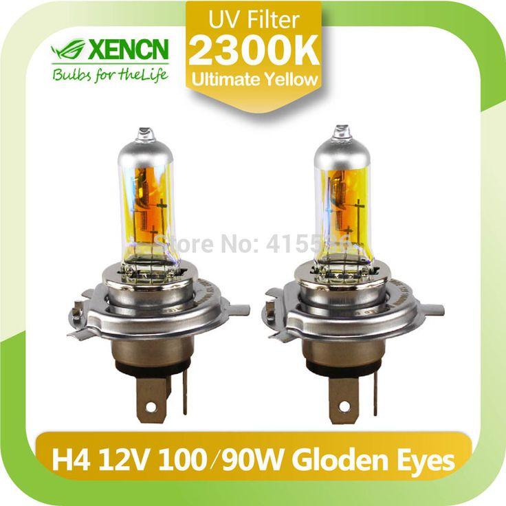 Новый XENCN H4 2300 К 12 В 100/90 Вт P43t Золотые Глаза Ксеноновые Супер Желтый Свет Галогенные Автомобиль лампы Фар Бесплатная Доставка 2 ШТ.