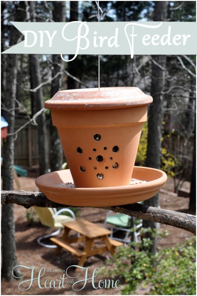 diy bird feeder from a flower pot, crafts, flowers, gardening, repurposing upcycling,